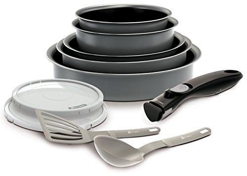 Backen 181002 -Set de poêles et casseroles -10 Pièces Gris -Tous feux dont induction-  30 x 35 x 14 cm