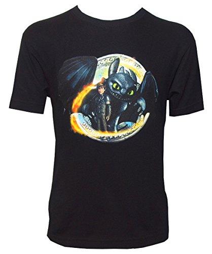 Dragons DreamWorks T-shirt voor kinderen, zonder tand, tanden, zwart