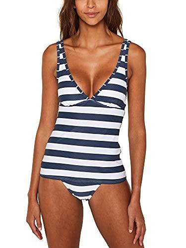 ESPRIT Damen North Beach pad.Tank Bikinioberteil, 405/DARK Blue, 40