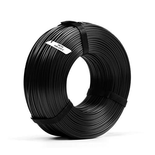 Filamento PETG per stampante 3D 1,75, bobina di ricarica PETG nera SUNLU da 1,75 mm, stampante 3D FDM abbinata, bobina da 1 kg, precisione dimensionale +/- 0,02 mm, PETG nero