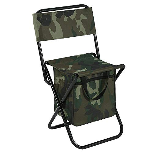 Vbestlife Klapp Camping Stuhl Hocker Rucksack mit Kühler Isolierte Picknicktasche, Camouflage Tragbare Wandern Sitz Tisch Tasche für Outdoor Indoor Fishing Travel