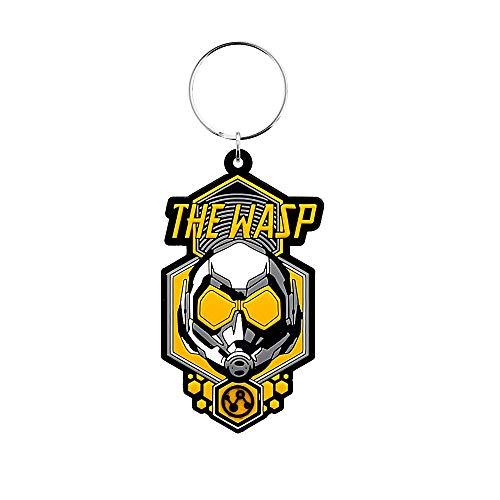Echte Marvel-Comics Der Wasp-Helm Gummi Schlüsselanhänger Schlüsselanhänger Ant-Man und die Wasp