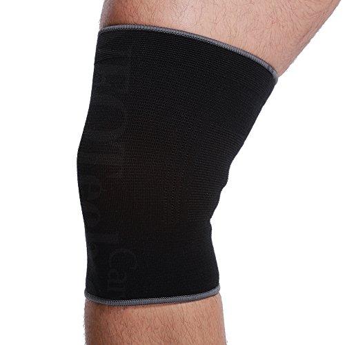 Neotech Care - Kniemanschette zur Unterstützung (1 Einheit) - leicht, elastisch, dünn, flexibel & atmungsaktiv - mittlere Kompression - für Männer & Frauen - rechtes oder linkes Bein - Schwarz - M