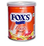 jai jinendra Fox's Crystal Clear Fruits Flavoured Candy Tin 180 gm Pack of One