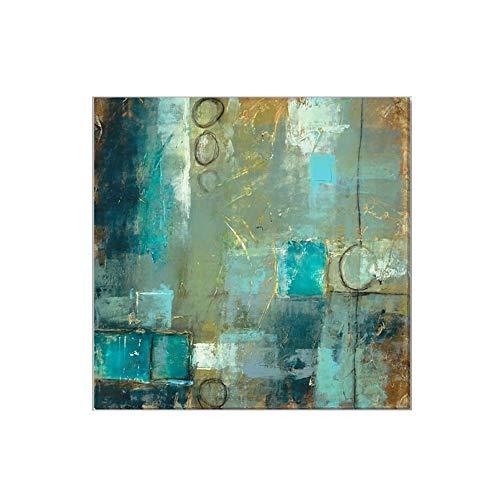 Pintura Al óLeo Pintada A Mano, Cuadros Abstractos Modernos Sobre Lienzo Arte, Sala De Estar Dormitorio DecoracióN Para El Hogar,90×90cm