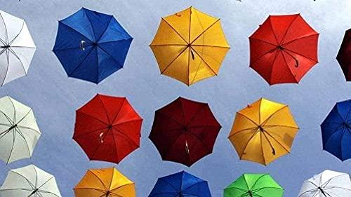 AMTTGOYY Puzzles für Erwachsene 1000 Stück - Umbrella Color - Kids Puzzles Toys Lernspiel