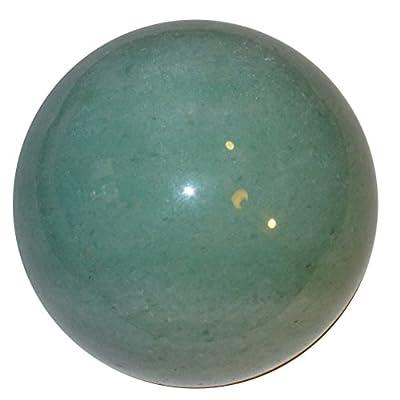 Satin Crystals Green Aventurine Sphere Crystal Healing Ball Abundance Power Lucky Stone Rich Wealth Financial Feng Shui P01 (1.9 Inch)