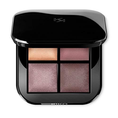Kiko Milano Bright Quartet Baked Eyeshadow Palette 02 | Paleta con 4 Sombras de Ojos Cocidas para Uso en Seco y Mojado