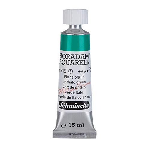 Schmincke Horadam Watercolor 15 ml Tube - Phthalo Green