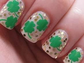 St Patricks Day Four Leaf Clover Irish Nail Vinyls Fingernail Decals