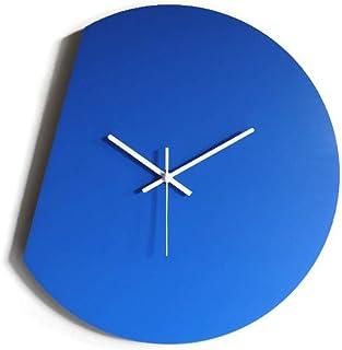 42cm Grande orologio da muro silenzioso per sala colorato come blu cobalto Particolari orologi a parete analogici con mecc...