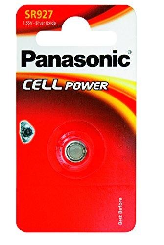 Panasonic SR 927 EL Silberoxid-Uhrenbatterien Knopfzelle (1,55V, 55mAh)