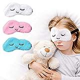 Sleep Mask for Kids with Blockout Light 3 pcs - Eye Cover & Travel Sleep Mask, Blindfolds for Kids, Girls, Boys