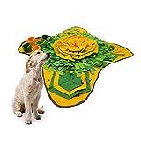 Gobesty Schnüffelteppich Hund, Schnüffelrasen Intelligenzspielzeug Katze Schnüffeldecke für Hunde Puzzle Waschbar Schnüffelmatte für Hunde Futtermatte Trainingsmatte für Haustier Hunde Katzen(Grün)