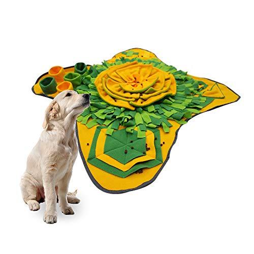 Gobesty Schnüffelteppich Hund, Hunde intelligenzspielzeug Schnüffelteppich Interaktives Hundespielzeug groß Intelligenzspielzeug für Hunde Futtermatte Trainingsmatte für Haustier Hunde Katzen(Grün )