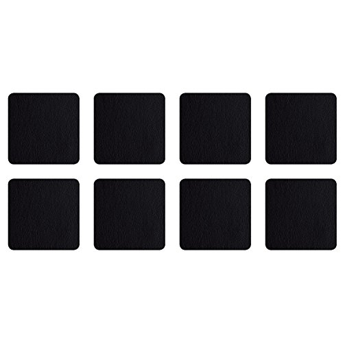 ASA Selection 7835420 Untersetzer für Gläser, 10 x 10 cm, Kunststoff in Lederoptik, schwarz (2 x 4er Pack)