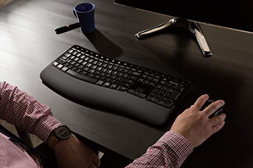 Microsoft Comfort Desktop 5050 Tastatur RF Wireless QWERTY Internationaler EER Schwarz - Tastaturen (Standard, Kabellos, RF Wireless, QWERTY, Schwarz, Maus enthalten)
