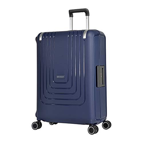 Eminent Koffer Vertica 68 cm 84 L Ritsloze 4 Dubbele stille wielen Blauw