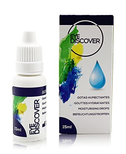 EYE DISCOVER Lacrime artificiali con acido ialuronico, gocce idratanti per occhi secchi (15ml)