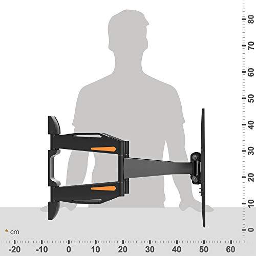 RICOO Fernsehhalterung S1844 Wandhalterung TV Schwenkbar Neigbar Halterung Wandhalter LED LCD Flachbild-Fernseher 76-140cm/30-42-50-55 Zoll - 5