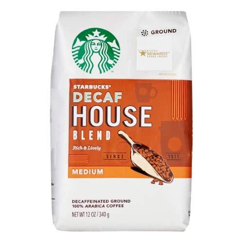 Starbucks Decaf House Blend Medium Roast Ground Coffee (Pack of 2)