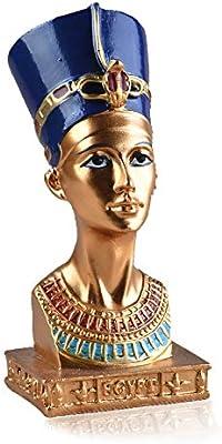 Amazon com: Resin Statues Ancient Egyptian Queen Nefertiti Bronze