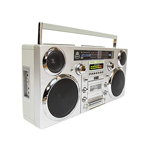 Boombox portátil GPO Brooklyn 1980S-Style - Reproductor de CD, Reproductor...