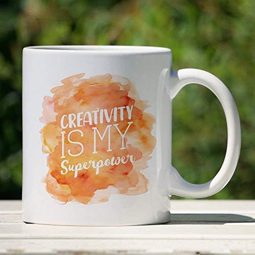 N\A Taza de la Creatividad La Creatividad es mi Superpotencia Taza del Artista Taza inspiradora del Efecto de la Acuarela