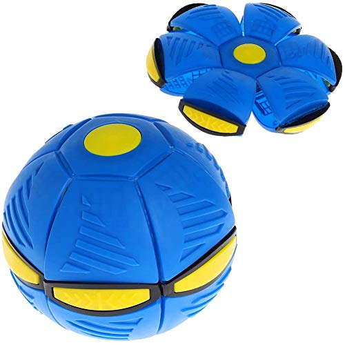 HHGGH UFO Flying Ball, Throw Disco Ball Flat Ball with LED Light, Kid Toys Outdoor Garden Beach Game
