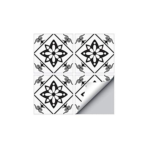 Traslados antideslizantes de PVC y transferencias impermeables cubren pegatinas de suelo Azulejos impermeables Vinilo Sala de estar Cuarto de baño Terreno Decorativo Tile Surface Wallpaper-4 piezas