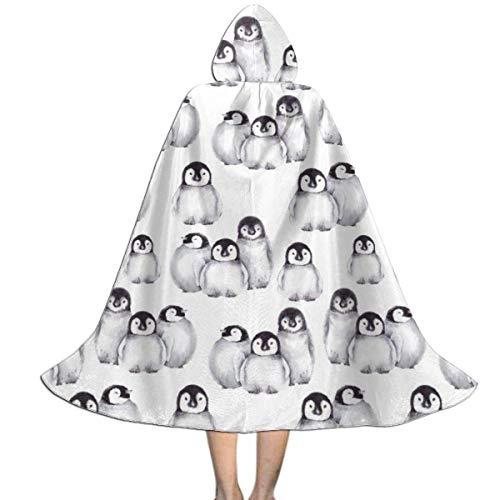 Amanda Walter Capa con Capucha para nios de pingino del Polo Norte para la Fiesta de Navidad de Halloween, Disfraz de Vampiro Brujo Mago de Cosplay para nios con Sombrero