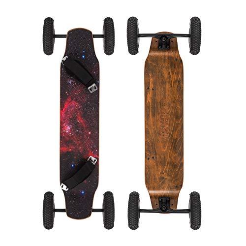 Moracle MountainBoard 99cm Skateboard Longboard 4 Ruedas Monopatín con Rodamiento de Patineta ABEC-9 Niños y Adultos (Estrella)