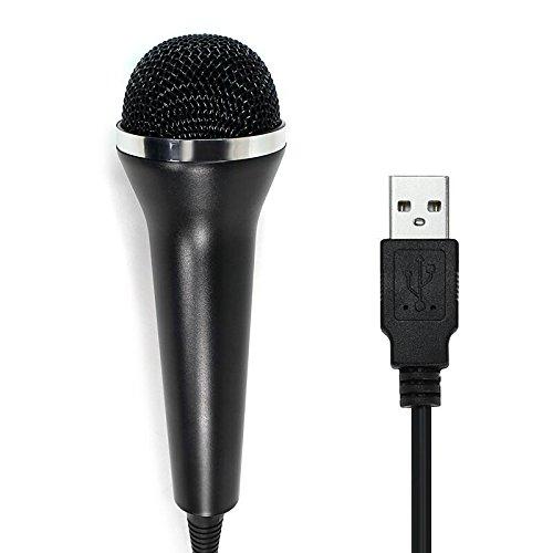 CHILDMORY Micrófono USB cableado para PS2, PS3, WII, XBOX360 y PC