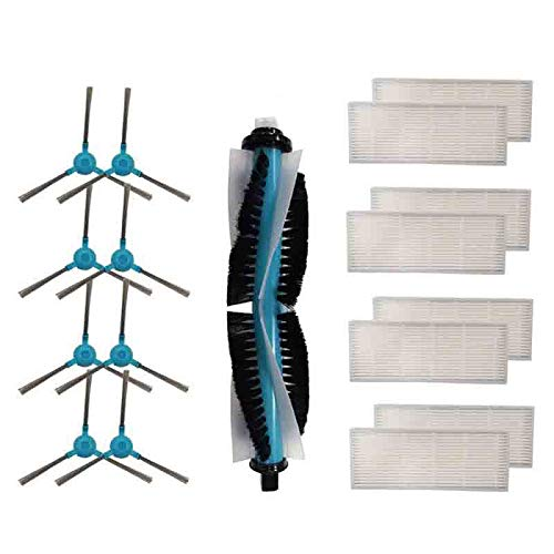 SODIAL Cepillo Principal de Repuesto, Cepillo Lateral, Filtros Hepa para Cecotec Conga 1390 Cecotec Conga 1290 Robot Aspirador