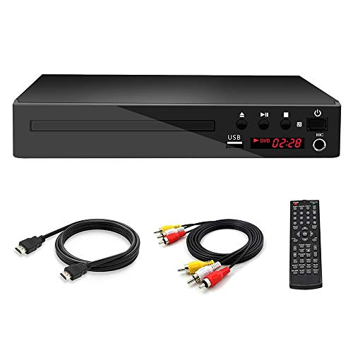 Lowest Prices! GWX Home HD HDMI DVD Player, CD Player, Support DVD VCD CD Multiple Play Modes for Li...
