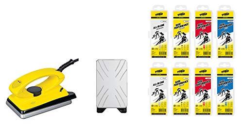 Toko Skiwachs-Set 9-teilig mit Wachsbügeleisen - für Alpin + Langlaufski + Snowboard
