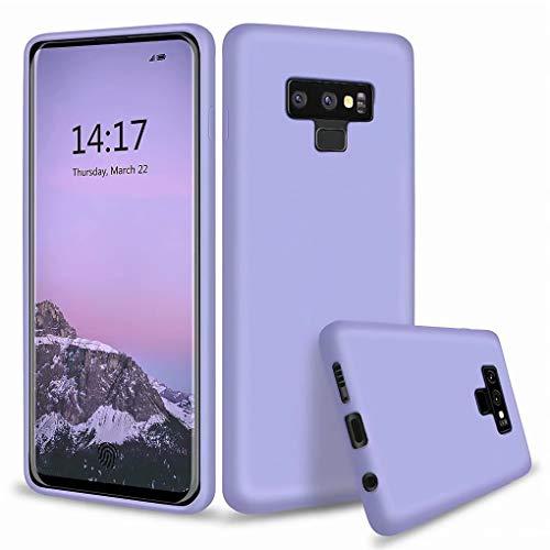 NiaCoCo Compatible avec Samsung Galaxy Note 9 Coque Ultra Mince Antichoc Silicone Liquide Étui pour Téléphone Gel Doux Microfibre de Caoutchouc Rayure Protecteur Cas(Bleu Violet)