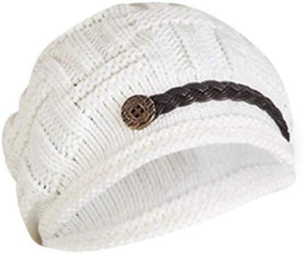 f9d921d1 Headwear Women Warm Rageared Baggy Winter Beanie Chunky Knit Crochet Ski  Hat Cap GH3132 White