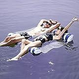 YUYDYU Hamaca de agua, para piscina, playa, doble flotante, hamaca de agua inflable, cama flotante, silla de salón, piscina, playa, flotador para adultos y niños