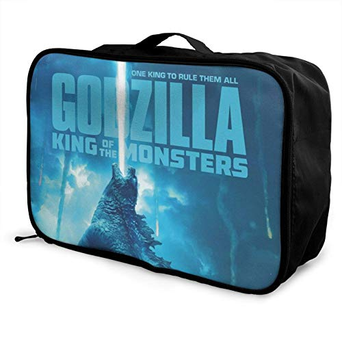 Godzilla - Organizador de viaje con diseño de anime, ligero, grande, bolsa portátil
