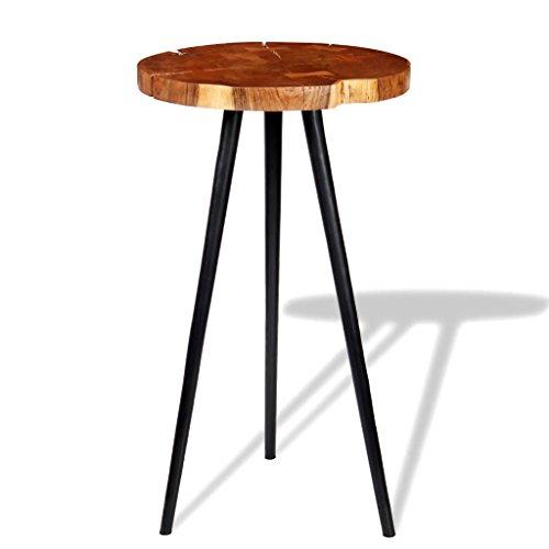 XingliEU Deze stamtafel van massief acaciahout (55-60) x 110 cm. Deze tafel creëert een comfortabele eetkamer.