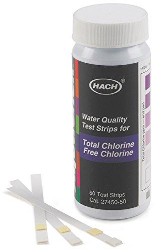 Hach 2745050 Free & Total Chlorine Test Strips, 0-10 mg/L