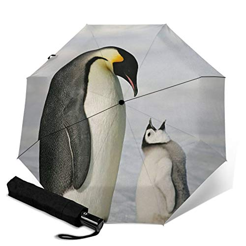 Penguin,Folding Umbrella, Windproof, UV Protection, Compact Umbrella for Travel, Daily Use