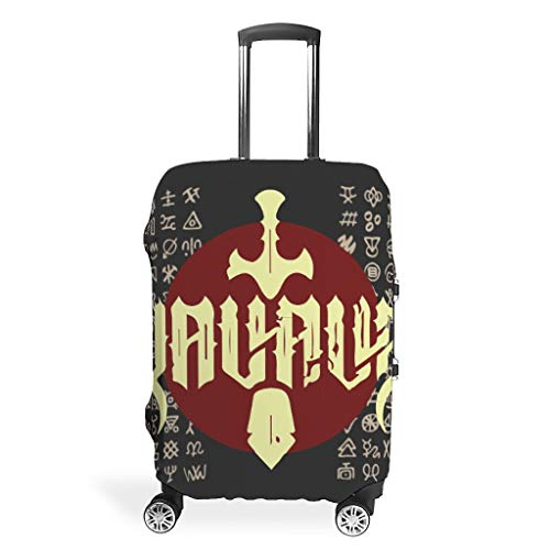 Viking Suitcase Cover Durable Anti-Scratch Fits 18-32 Inch for Wheeled Suitcase Over Softsided Viking White 26-28in
