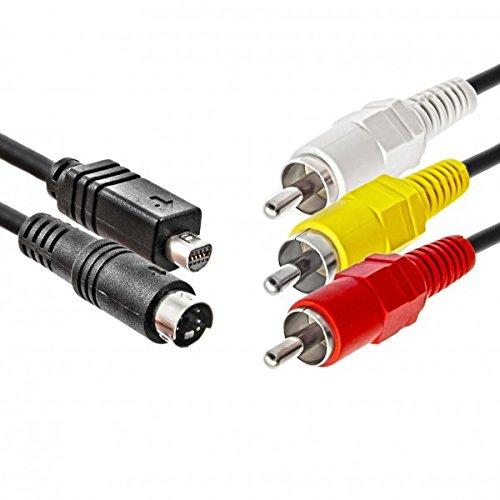 Impulsfoto JJC AV Audio-Video-Kabel kompatibel mit Sony DCR-HC-Serie Ersatz für VMC-15FS