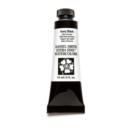 DANIEL SMITH Extra Fine Watercolor 15ml Paint Tube, Ivory Black