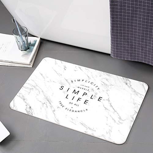 Antislip badmat voor badkamertapijt, absorberende sneldrogende badmat, gebruikt in badkamertapijt in de slaapkamer,60 * 39cm