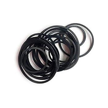 Mixed Square Cassette Tape Belt Machine Recorder Rubber Belt 25/30/35/38/40/45/50/55/60/65MM (1/2 Perimeter) CD DVD Assorted Common Belt Repair Rebuild for Repair Maintenance - Black  Packs of 30