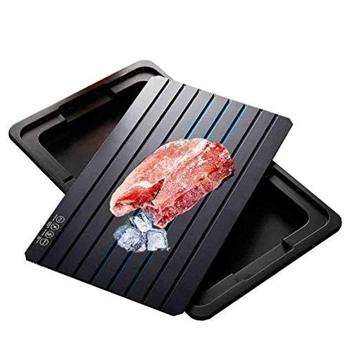 Platte Auftauen AGYH Küche Abtauwanne, Food Grade Aluminium Schnell Thawing Platte Mit Tropfschale, Antihaft-Lebensmittel, Einfach Zu Bedienen, 3 X 9 Zoll / 33,5 X 23,5 cm
