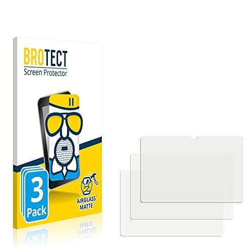 BROTECT Protector Cristal Mate Compatible con Samsung Galaxy Tab S7 FE (Formato Apaisado) Protector Anti-Reflejos Vidrio, AirGlass (3 Unidades)